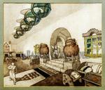 Detalles del artista canario Nestor M F de la Torre de su estilo neocanario